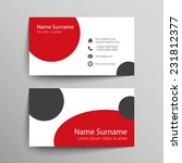 modern simple business card... | Shutterstock .eps vector #231812377