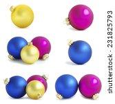 christmas balls   Shutterstock . vector #231825793