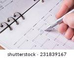 silver pen writing on open... | Shutterstock . vector #231839167