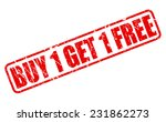 buy 1 get 1 free red stamp text ... | Shutterstock .eps vector #231862273