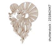 ram's head. symbol of the new... | Shutterstock .eps vector #231862447