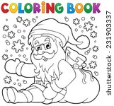 coloring book santa claus in... | Shutterstock .eps vector #231903337