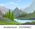river flowing through the rocky ... | Shutterstock .eps vector #231904867