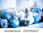christmas composition with... | Shutterstock . vector #231931627