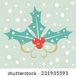 Winter Holly Berry Illustration