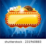casino city background vector... | Shutterstock .eps vector #231960883