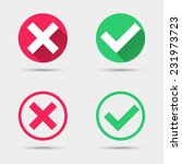 Check Mark Icons. Flat Design...