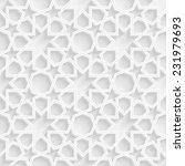 3d geometric star pattern... | Shutterstock . vector #231979693