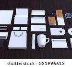 set of corporate design mockup...   Shutterstock . vector #231996613