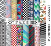set of abstract patterns vector ... | Shutterstock .eps vector #232053217