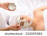 beautician applying facial mask ...   Shutterstock . vector #232055383