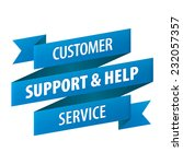 customer support and help... | Shutterstock .eps vector #232057357