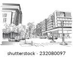 vector illustration of street... | Shutterstock .eps vector #232080097