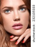 beauty woman with perfect...   Shutterstock . vector #232105333