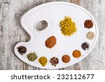 spices on a palette pictorial   Shutterstock . vector #232112677