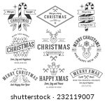 vector christmas badges and... | Shutterstock .eps vector #232119007