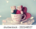 toy bears. valentines day. | Shutterstock . vector #232148527