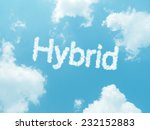 cloud words with design on blue ... | Shutterstock . vector #232152883