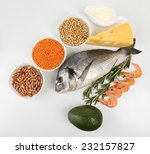 food high in protein isolated... | Shutterstock . vector #232157827