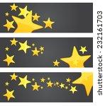 star rating banner  ...   Shutterstock .eps vector #232161703