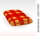 the blanket in the red cell  | Shutterstock .eps vector #232171507