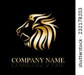 Vector Sign Golden Lion