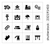 Set Icons Of Metallurgy...