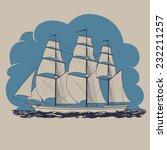 Three Masted Sailing Ship...