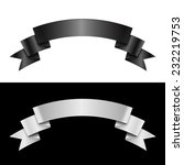black and white ribbon  great... | Shutterstock .eps vector #232219753