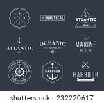 set of retro vintage nautical... | Shutterstock .eps vector #232220617