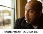 Sad African American Man...