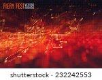 fiery festival vector... | Shutterstock .eps vector #232242553