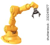 robotic arm isolated on white... | Shutterstock . vector #232245877