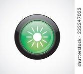 sun sign icon green shiny...