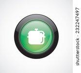 pan sign icon green shiny...