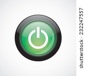 power on sign icon green shiny...