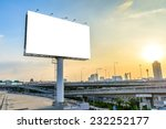 blank billboard at twilight for ...