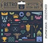 retro design elements hipster... | Shutterstock .eps vector #232255603