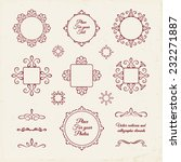vector set  curlicues and... | Shutterstock .eps vector #232271887