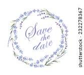 watercolor lavender wreath. ... | Shutterstock .eps vector #232278367