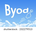 byod message cloud shape  | Shutterstock . vector #232279513