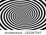 black and white circle tunnel. | Shutterstock . vector #232287247