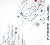 abstract technology business... | Shutterstock .eps vector #232302883