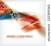 orange color christmas blurred... | Shutterstock .eps vector #232309363