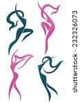 vector collection of abstract... | Shutterstock .eps vector #232326073