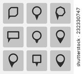 vector pointer  black icons set ... | Shutterstock .eps vector #232330747