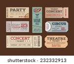 collection of retro tickets. | Shutterstock .eps vector #232332913