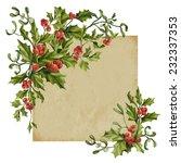 vintage christmas decorative... | Shutterstock .eps vector #232337353