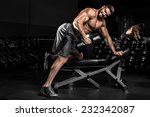 bodybuilder in the gym | Shutterstock . vector #232342087