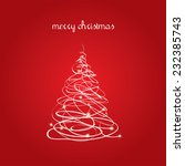 christmas card with abstract... | Shutterstock .eps vector #232385743